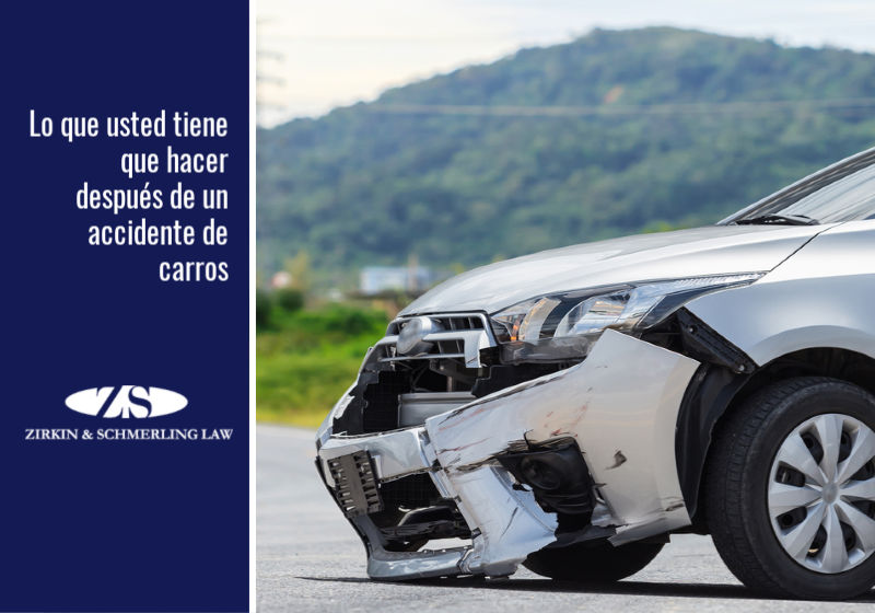 Lo que usted tiene que hacer después de un accidente de carros