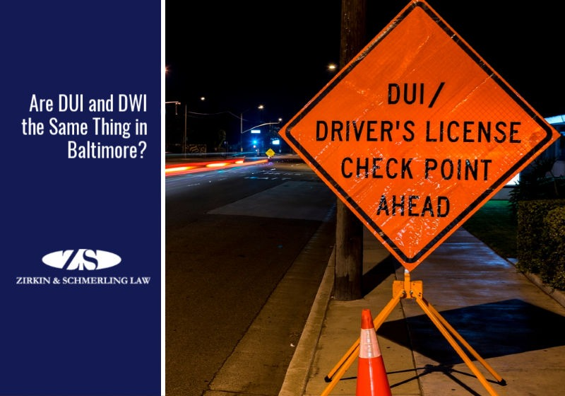 Are DUI and DWI the Same Thing in Baltimore?