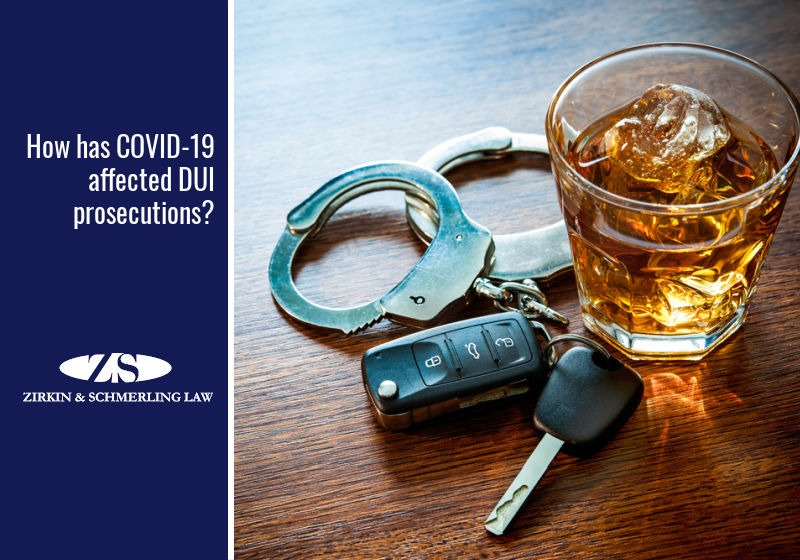How has COVID-19 affected DUI prosecutions?