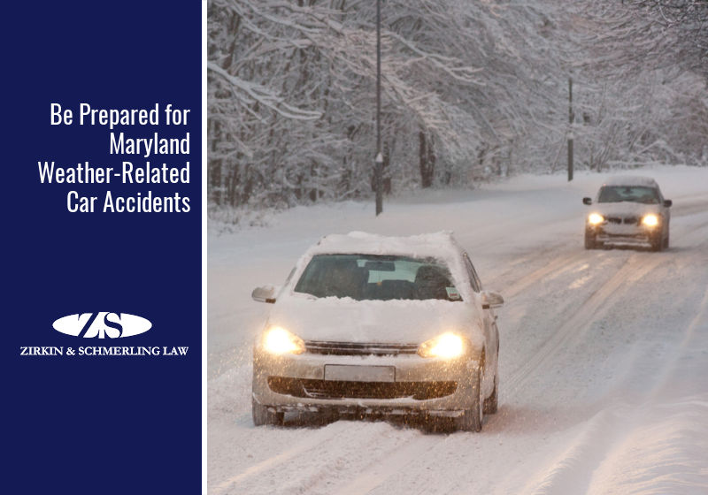 Be Prepared for Maryland Weather-Related Car Accidents