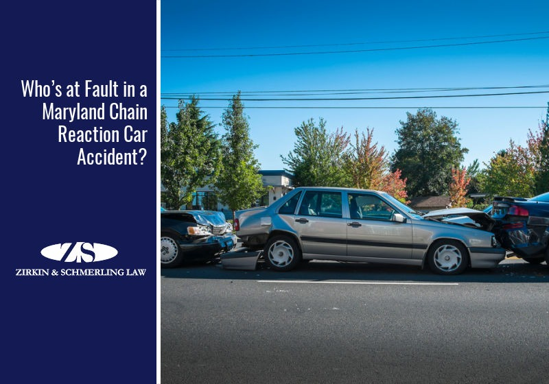 Who's at Fault in a Maryland Chain Reaction Car Accident?