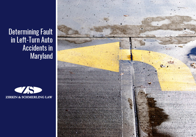 Determining Fault in Left-Turn Auto Accidents in Maryland
